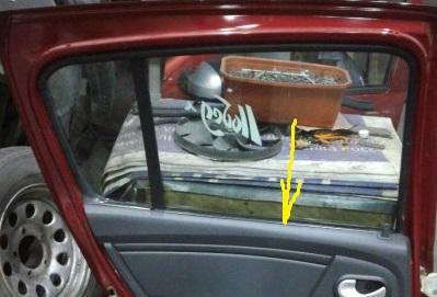 Уплотнитель стекла Renault Sandero Stepway задний левый