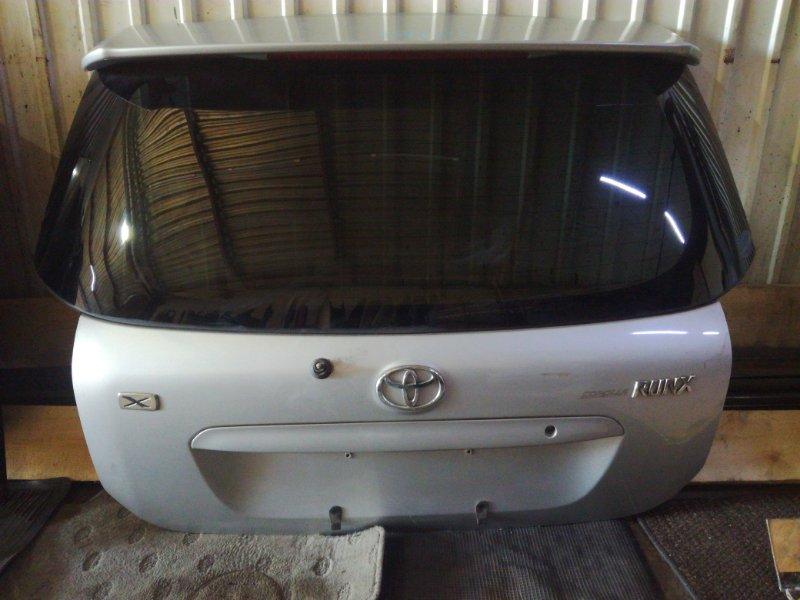 Дверь 5-я Toyota Allex CDE120 1NZFE задняя