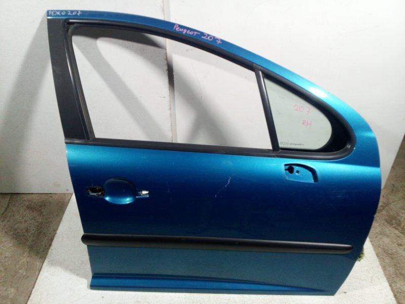 Дверь Peugeot 207 WC 2006 передняя правая 9004X8 (б/у)