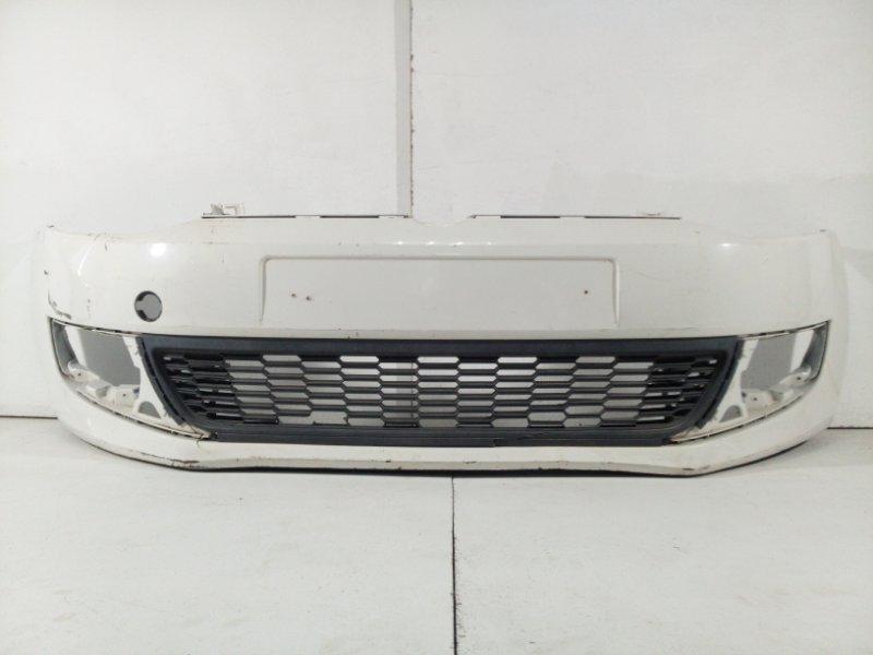 Бампер передний Volkswagen Polo Hb MK5 2009 передний 6R0807221RGRU (б/у)