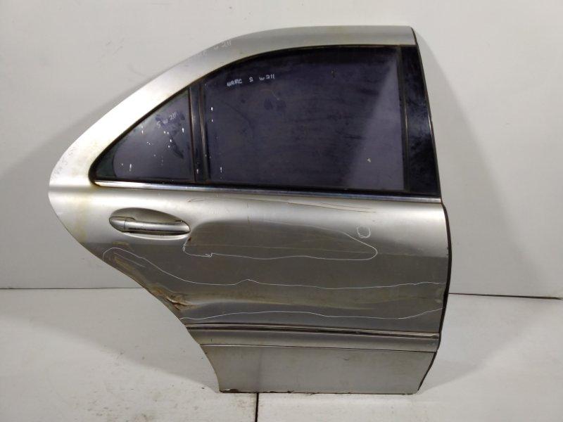 Дверь Mercedes S W220 1998 задняя правая 2207300205 (б/у)