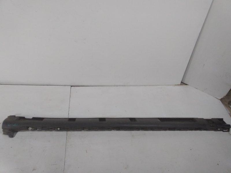 Накладка на порог (наружная) Renault Sandero Stepway 1 2009 правая 764365586R (б/у)