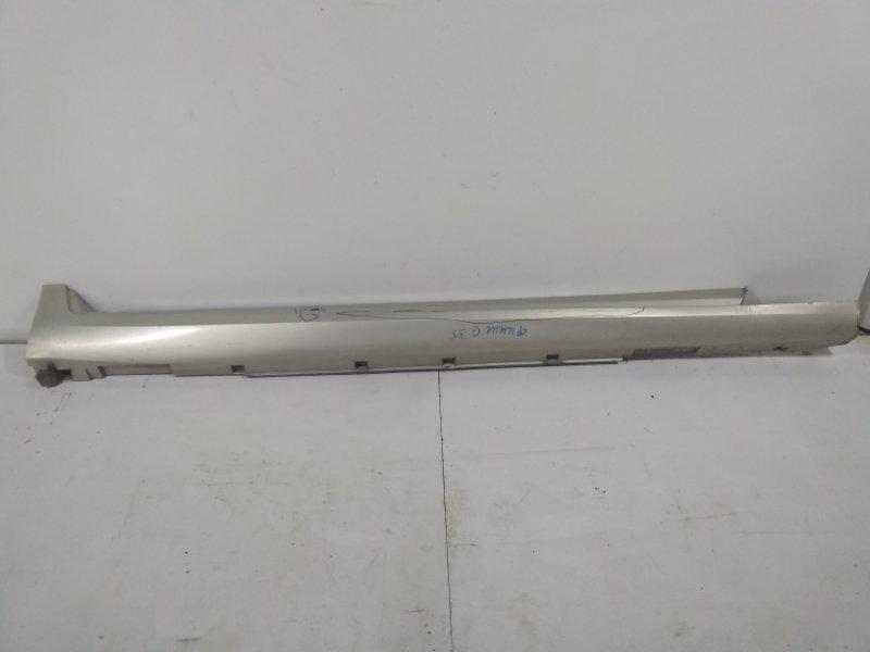 Накладка на порог (наружная) Infiniti G35 V36 2007 правая 76850JK17A (б/у)
