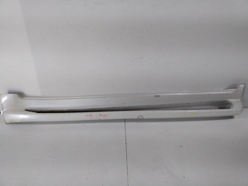 Накладка на порог (наружная) Toyota Land Cruiser 200 J200 2008> левая 5177460160B4 (б/у)