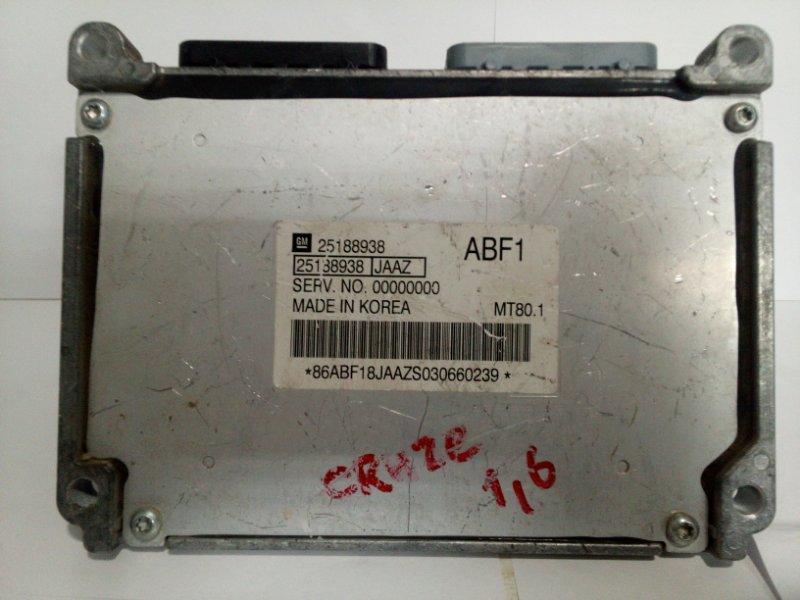 Блок управления двигателем Chevrolet Cruze J300 2009 25187027 (б/у)