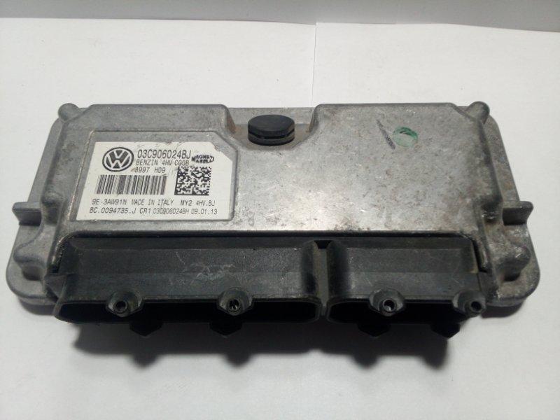 Блок управления двигателем Volkswagen Polo MK5 2009 03C906024BJ (б/у)