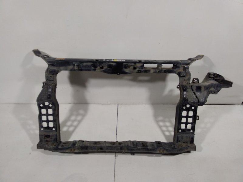 Панель передняя (телевизор) Hyundai Santa Fe 3 DM 2012> передний 641012W100 (б/у)