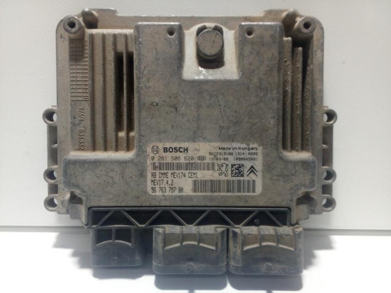 Блок управления двигателем Peugeot 308 4B 2007 1606491180 (б/у)