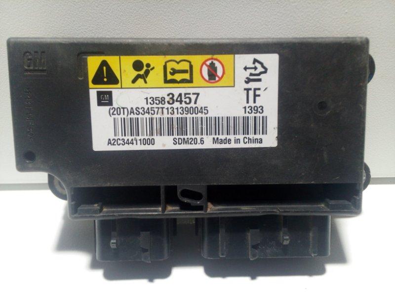 Блок управления air bag Chevrolet Spark 3 M300 2010 13592737 (б/у)