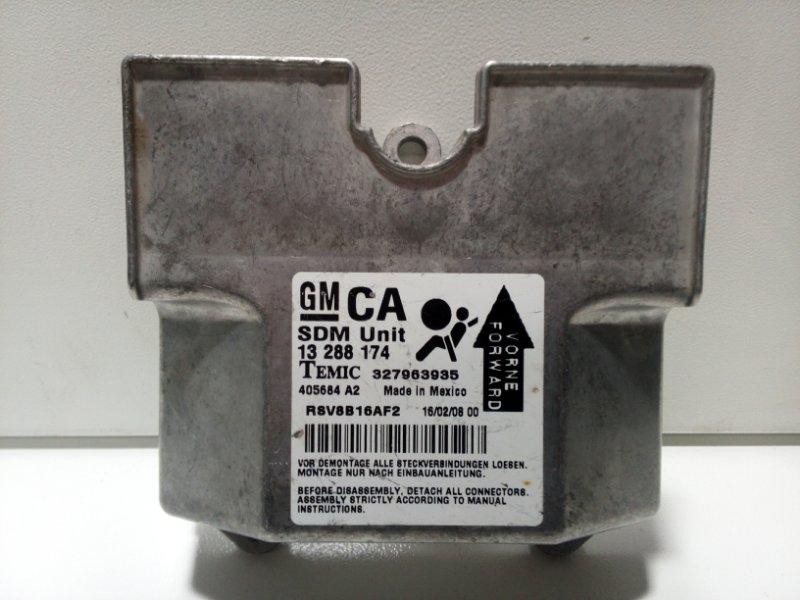Блок управления air bag Opel Astra H L48 2004 13288174 (б/у)