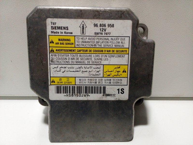 Блок управления air bag Chevrolet Aveo T250 T250 2005 96806958 (б/у)