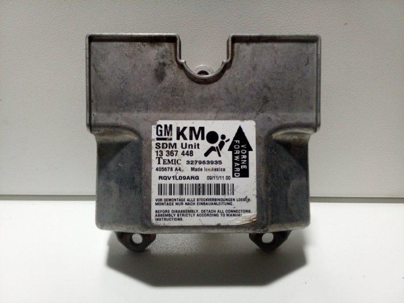 Блок управления air bag Opel Astra H L48 2004 13367448 (б/у)