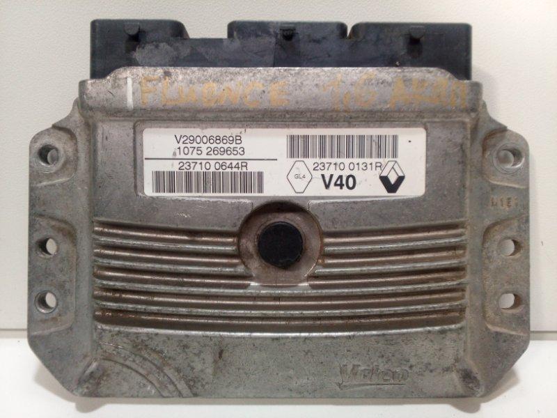 Блок управления двигателем Renault Fluence L30 2010 237100644R (б/у)