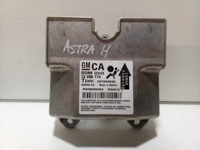 Блок управления air bag Opel Astra H L48 2004 1232310 (б/у)