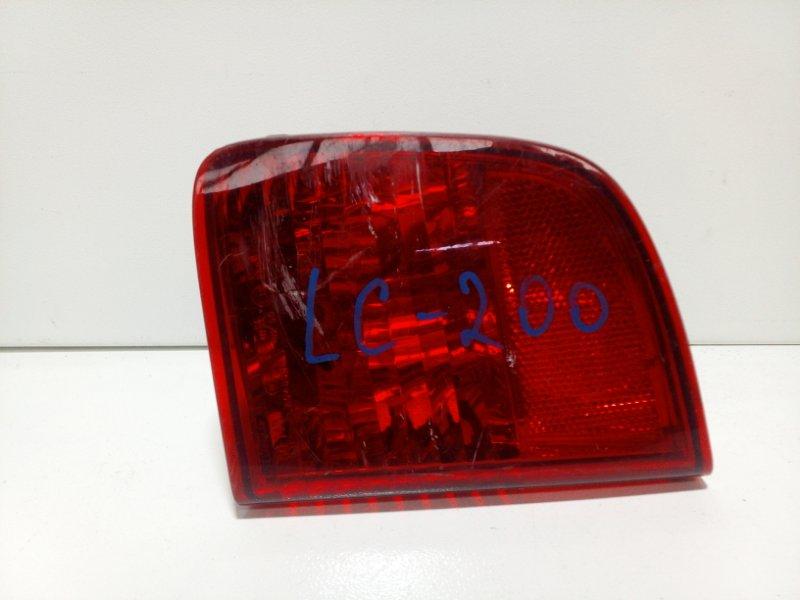 Фонарь противотуманный Toyota Land Cruiser 200 J200 2008> задний правый 8145760020 (б/у)