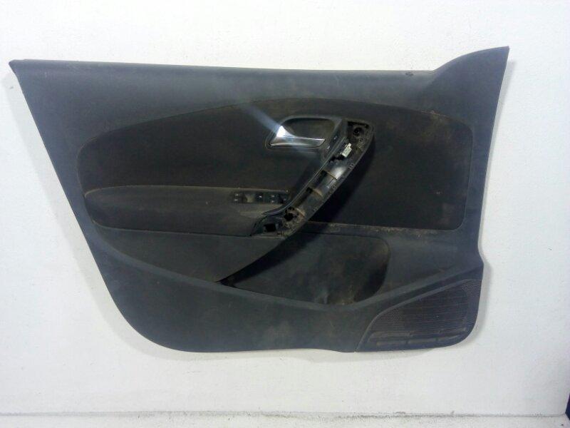 Обшивка двери Volkswagen Polo MK5 2009 передняя левая 6R4867011CBAPC (б/у)