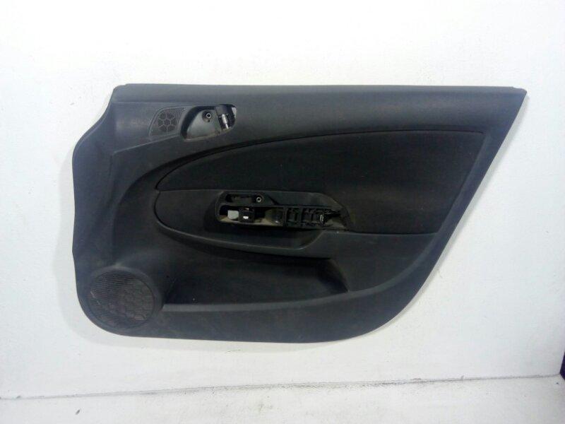 Обшивка двери передней правой Opel Corsa D D 2006 передняя правая 13232903 (б/у)