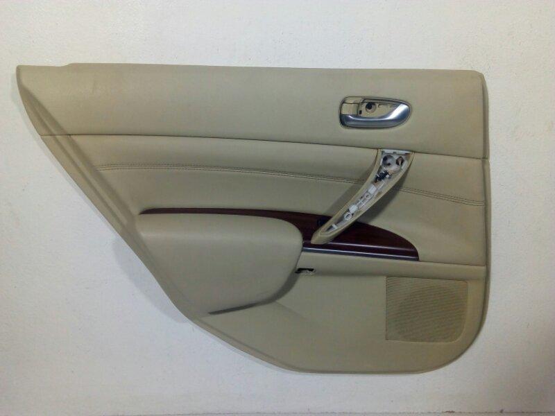 Обшивка двери Nissan Teana J32 2008 задняя левая 82901JN96C (б/у)