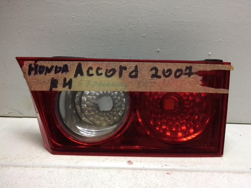 Фонарь задний внутренний правый Honda Accord 7 CL 2003 задний правый 34151SEA003 (б/у)