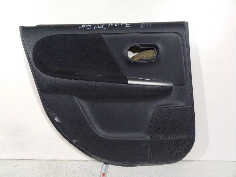 Обшивка двери Nissan Note задняя левая (б/у)