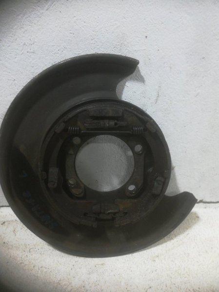 Щиток тормозного механизма Hyundai Sorento 2 задний левый (б/у)