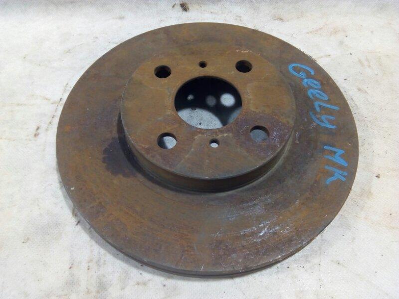 Диск тормозной Geely Mk 2008 передний 1014001811 (б/у)