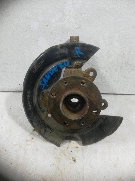 Кулак поворотный Renault Sandero 1 BS 1.6 2004 передний правый (б/у)