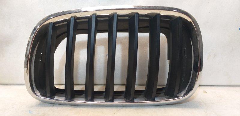 Решетка радиатора Bmw X5 E70 2007 передняя левая 51137171395 (б/у)