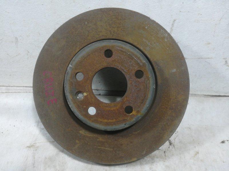 Диск тормозной Chevrolet Cruze передний 13502052 (б/у)