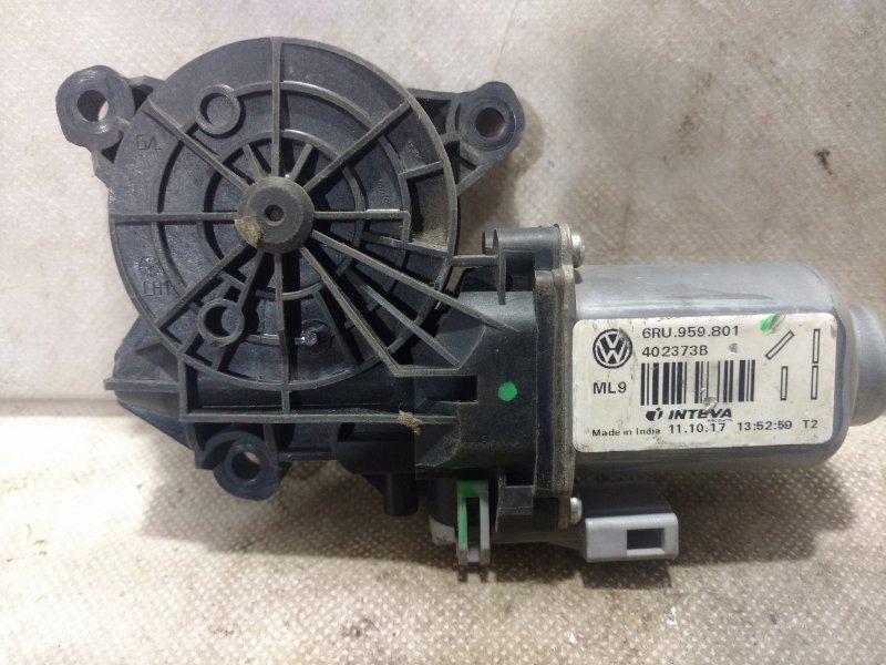Мотор стеклоподъемника Volkswagen Polo MK5 2011> передний левый 6RU959801 (б/у)