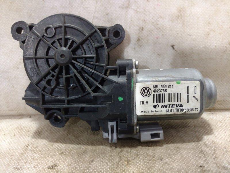 Мотор стеклоподъемника Volkswagen Polo MK5 2011> задний правый 6RU959811 (б/у)