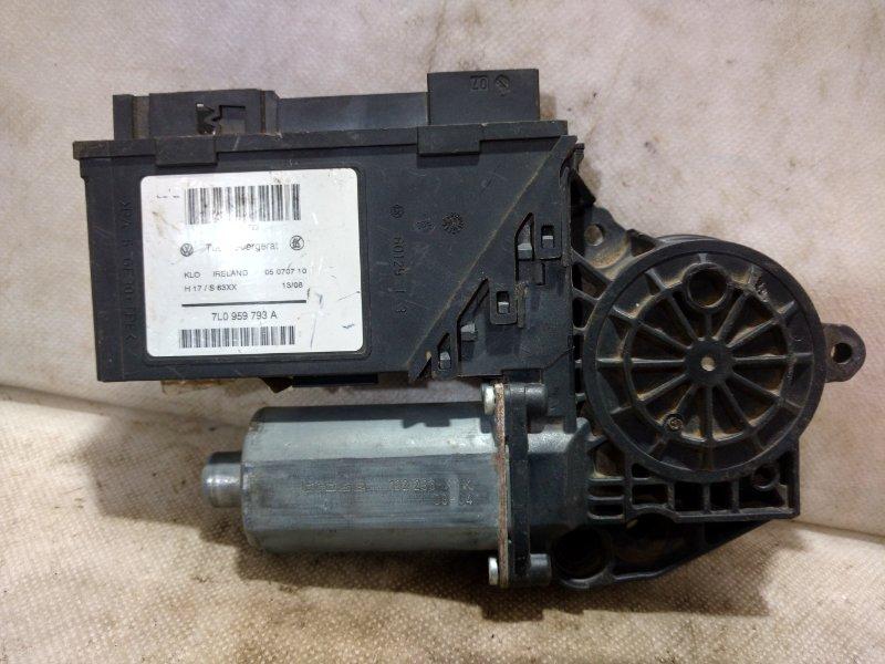 Мотор стеклоподъемника Volkswagen Touareg 1 7L0 2002 задний правый 0130821764 (б/у)