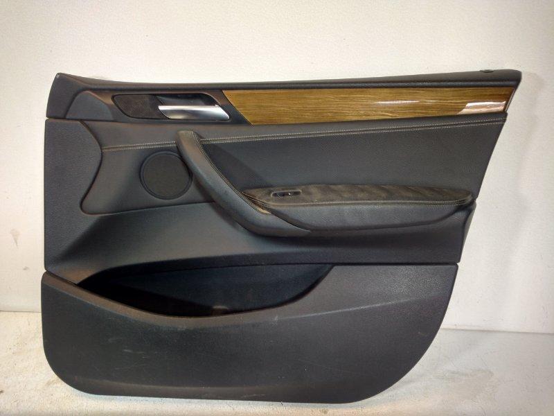 Обшивка двери Bmw X3 F25 3.0 2011 передняя правая 51417394528 (б/у)