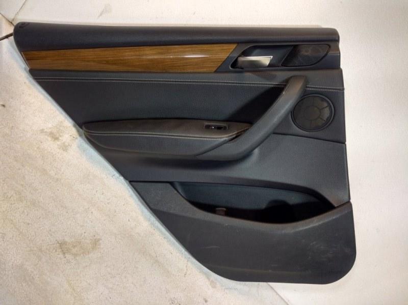 Обшивка двери задней левой Bmw X3 F25 3.0 2011 задняя левая 51427279939 (б/у)