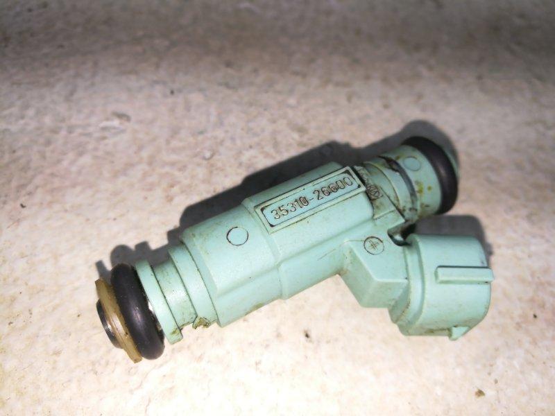 Форсунка инжекторная электрическая Hyundai Solaris 1 QB 2010 3531026600 (б/у)
