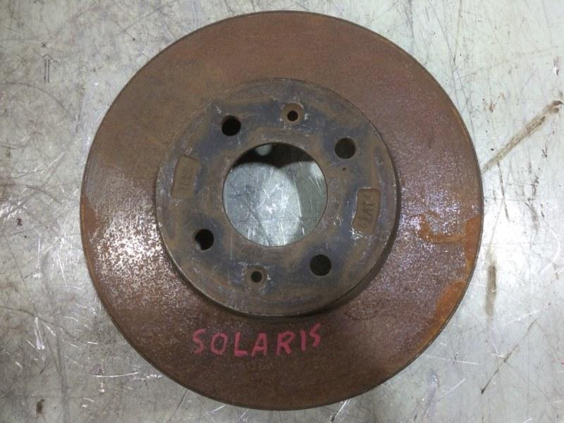 Диск тормозной Hyundai Solaris 1 передний 517121R000 (б/у)