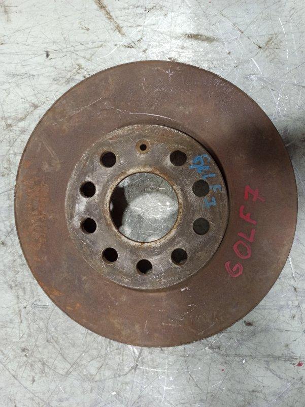 Диск тормозной передний вентилируемый Volkswagen Golf 5 2004 передний 5Q0615301H (б/у)