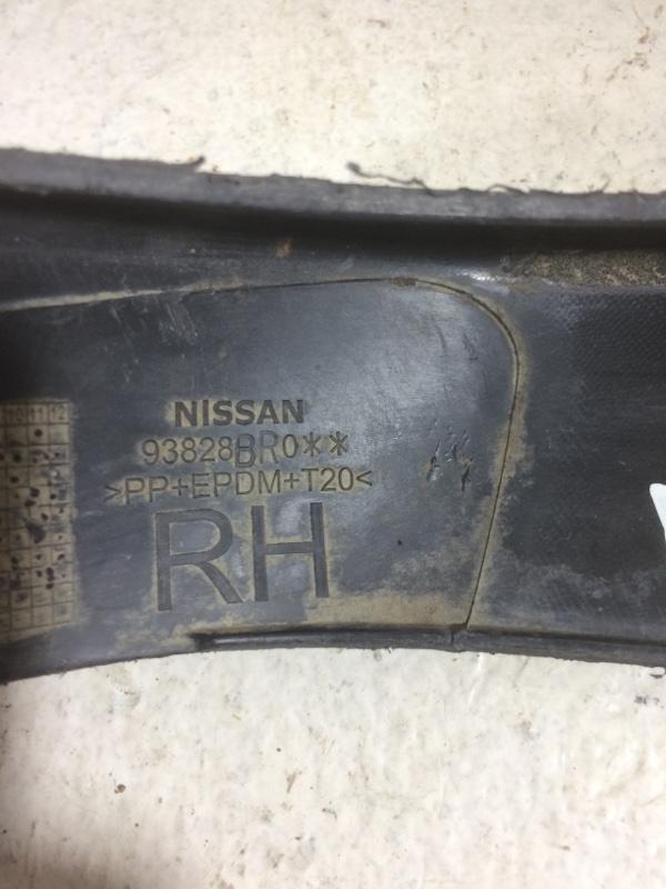 Накладка крыла Nissan Qashqai 1 J10 2007 задняя правая (б/у)