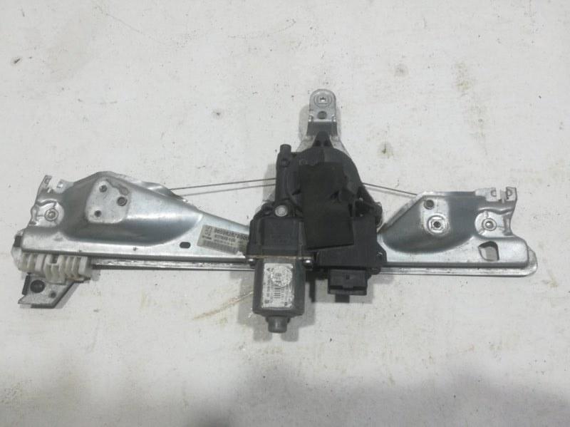 Механизм стеклоподъемника Peugeot 308 2007 задний левый (б/у)