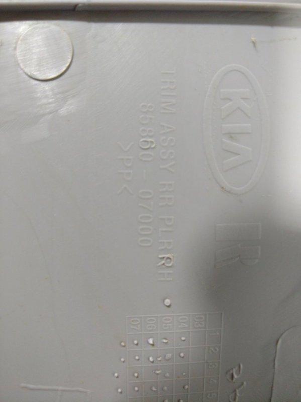 Обшивка стойки Kia Picanto 1 задняя правая (б/у)