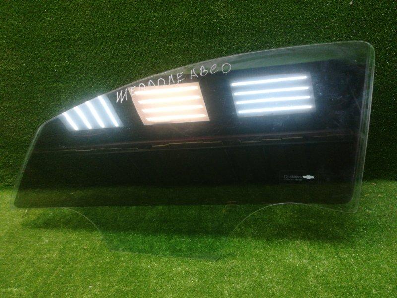 Стекло двери Chevrolet Aveo T300 2011> переднее левое (б/у)
