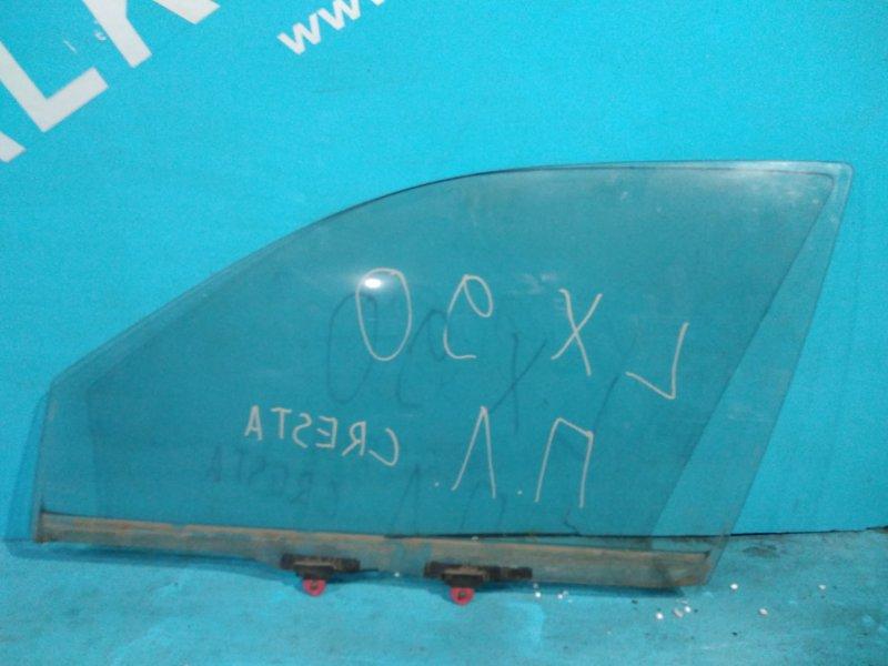 Стекло двери Toyota Cresta LX90 2L переднее левое