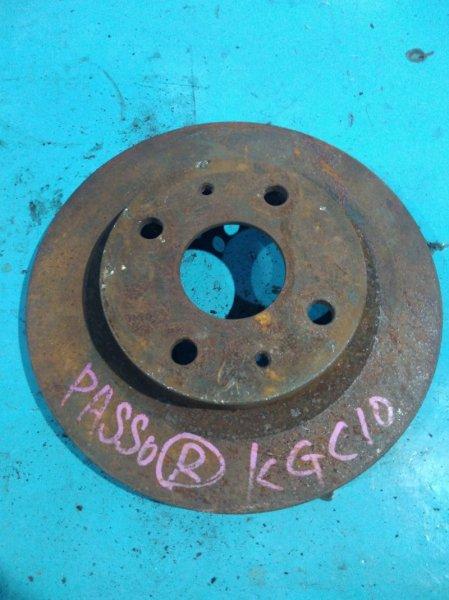 Тормозной диск Toyota Passo KGC10 1KR передний
