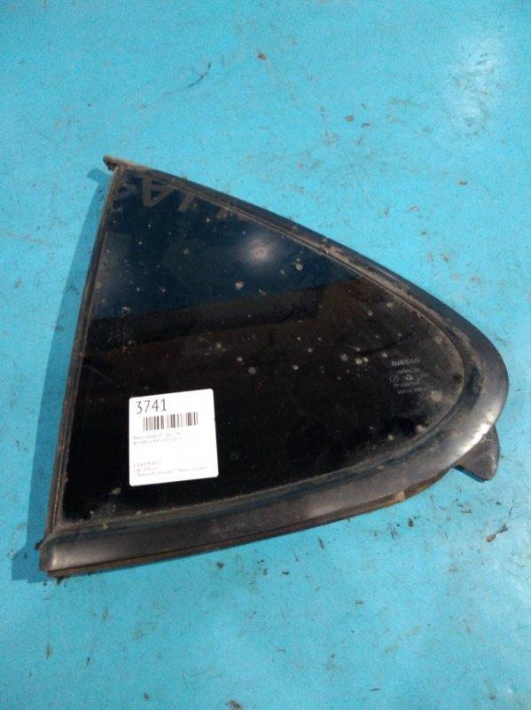 Форточка двери Nissan Sunny FB15 QG15DE 2000г задняя левая