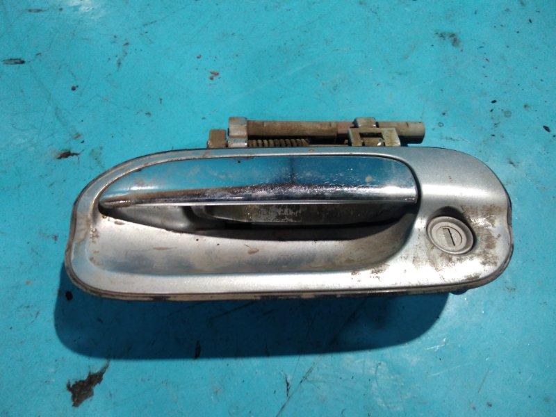 Ручка двери внешняя Nissan Sunny FB15 QG15DE 2000г передняя левая