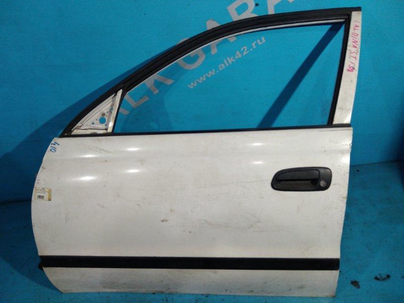 Дверь Toyota Caldina ST190 3S-FE 1997г передняя левая