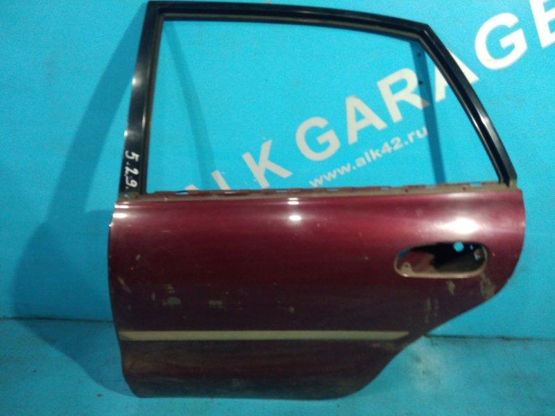 Дверь Mitsubishi Galant E52A 4G93 1995г задняя левая