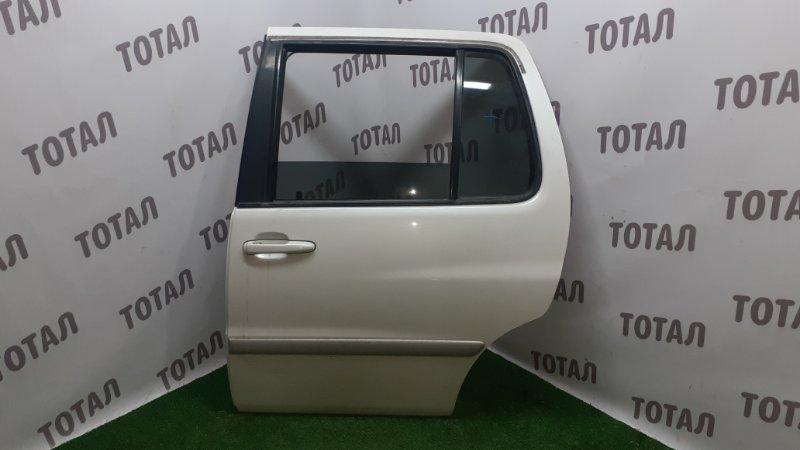 Дверь Toyota Raum EXZ10 5EFE 2001 задняя левая (б/у)