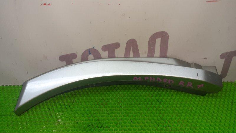 Накладка на крыло Toyota Alphard ANH15 2AZFE 2002 задняя правая (б/у)