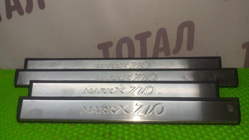Накладка на порог Toyota Mark X Zio GGA10 2GRFE 2008 (б/у)